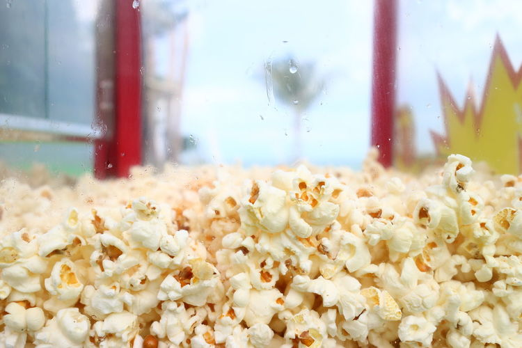 Close-up Corn Day Delicious Focus On Foreground Nature No People Popcorn Snack Transparent Window