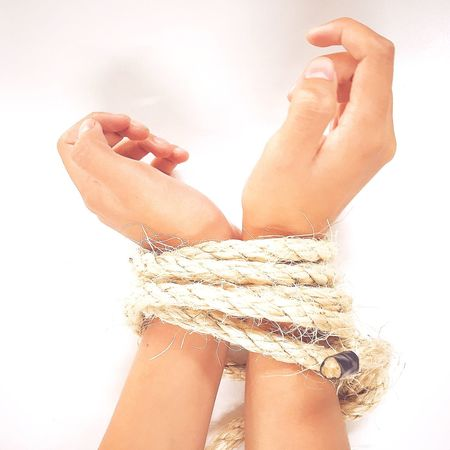 Tied Rope Caught Trapped