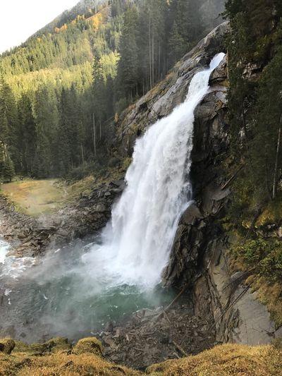 Krimmler Waterfalls Waterfall Beauty In Nature Scenics Nature Water Motion Tranquil Scene