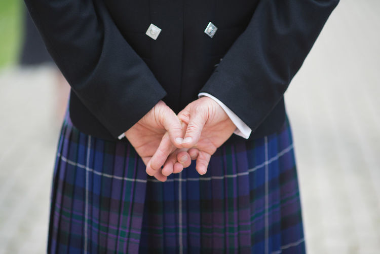 Man National Scottish Behind Costume Finger Formalwear Front View Hand Human Body Part Human Hand Lifestyles Midsection National Costume One Person People Real People Scottish National Team  Standing Well-dressed