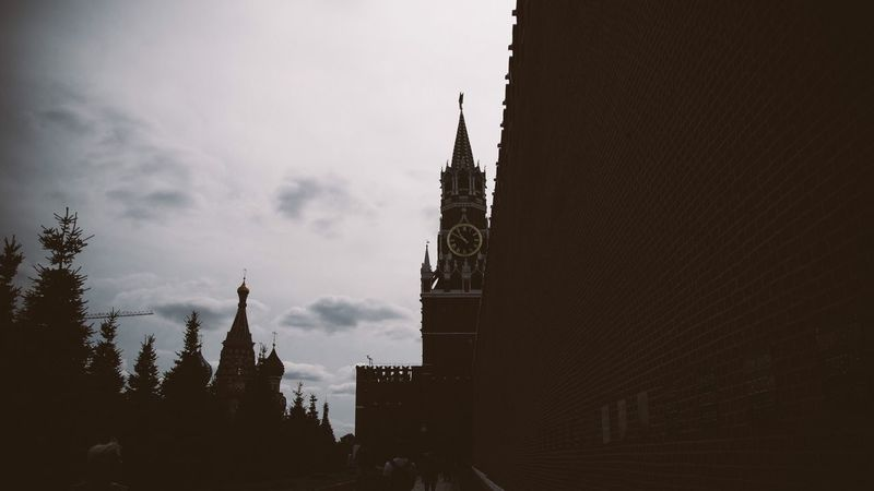 Moscow Architecture Building Exterior Built Structure Sky Spirituality Travel Destinations Religion Place Of Worship No People Tree Outdoors Silhouette Day Cultures Welcome To Black Summer Exploratorium
