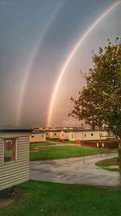 Skyporn Sky Rainbow Rainbows Double Rainbow Rainbow Sky Caravan Caravanning Caravan Park