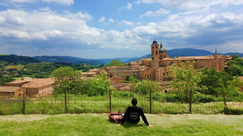 Cattedrale di Urbino, Urbino, Italy Italia Architecture Building Exterior Built Structure Cloud - Sky Day Grass History Italy Lifestyles Men Nature Old Ruin One Person Outdoors People Real People Sky Tree Urbino Connected By Travel Second Acts Be. Ready.