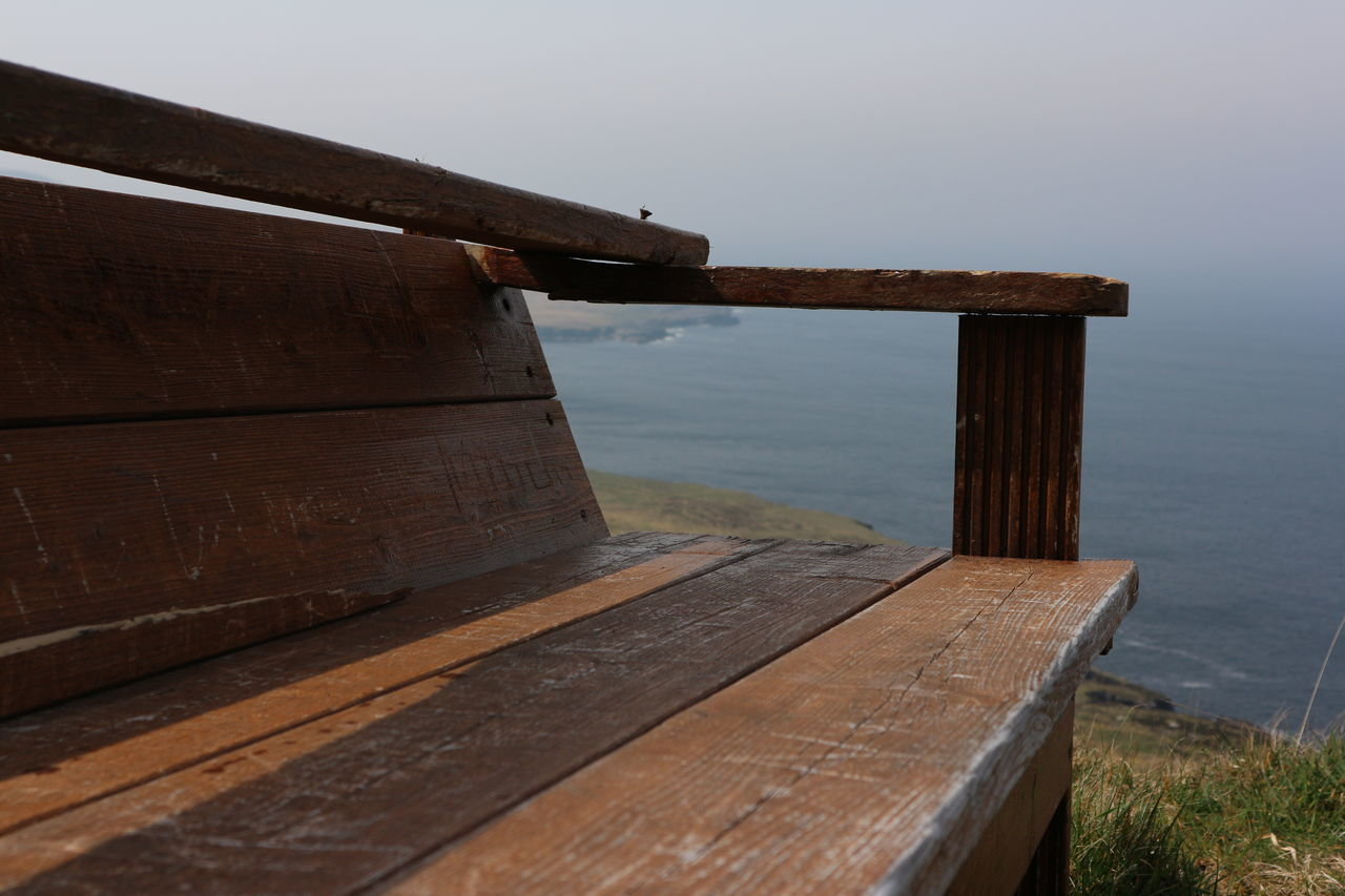 WOODEN PIER OVER SEA AGAINST SKY