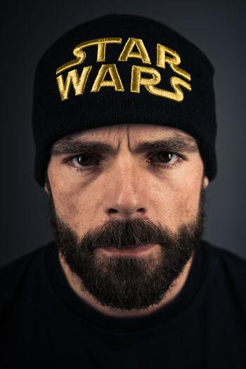 Starwars Fanboy Beanie Beard Portrait Poeple Closeup Photography