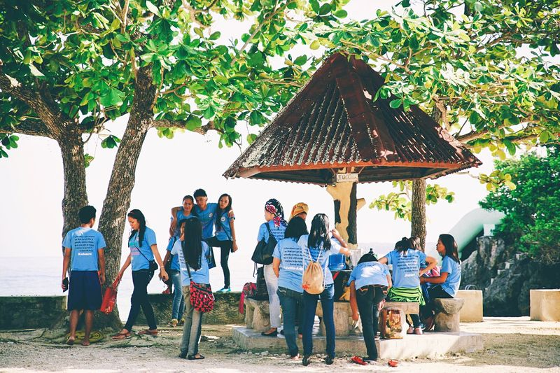 School Uniforms Around The World Philippines Students School Life  Break Student Student Life School School Life  School ✌ Siquijor Siquijorisland Group Happiness Happy People Friends Friendship Lunch Break Tropical Climate Tropical Trees Shadow Youth Of Today Up Close Street Photography