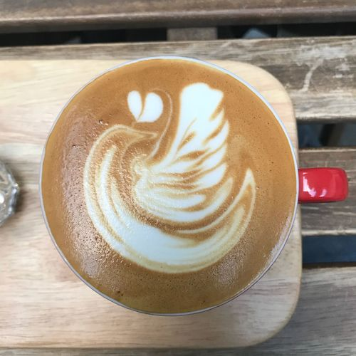 What do you see? Flatwhite Latteart Origo Coffee Drink Food And Drink Refreshment Coffee Cup Froth Art Coffee - Drink