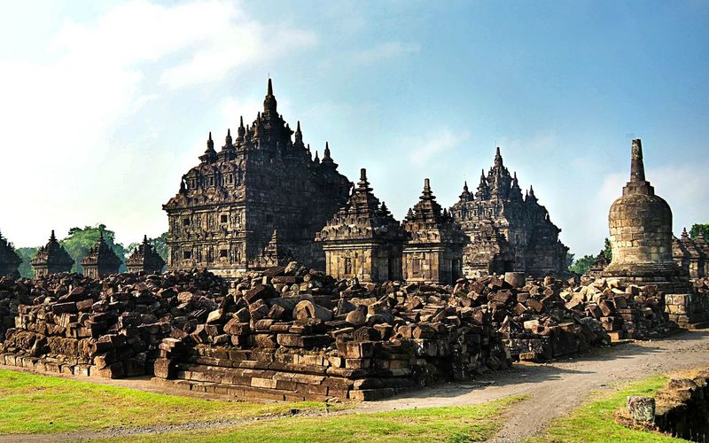 Plaosan Temple... Heritage Archeological Complex Archeological Site Ancient Architecture Ancient Ruins, in Central Java, INDONESIA