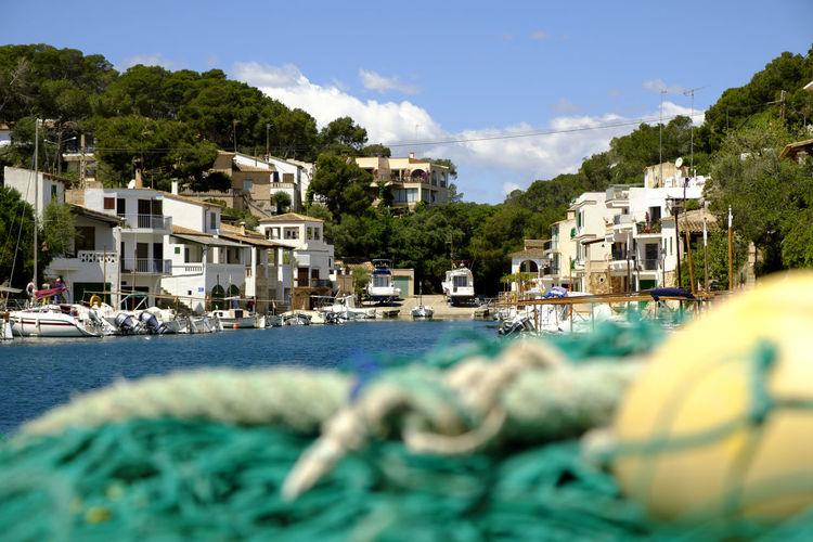 Cala Figuera, Mallorca, Spain. #Fisherman #bay #calafiguera #fishnets #majorca #mallorca #mediterranean Tranquility Architecture Bluesky Marina Sea Sky Sunshine Tranquil Scene Water Yacht