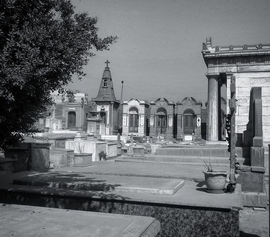 EyeEmNewHere Architecture History No People Outdoors Building Exterior Built Structure Architectural Column Day Sky Black & White Black And White Photography Building Mobile Photography Cairo Egypt Cimetary Cimetiere
