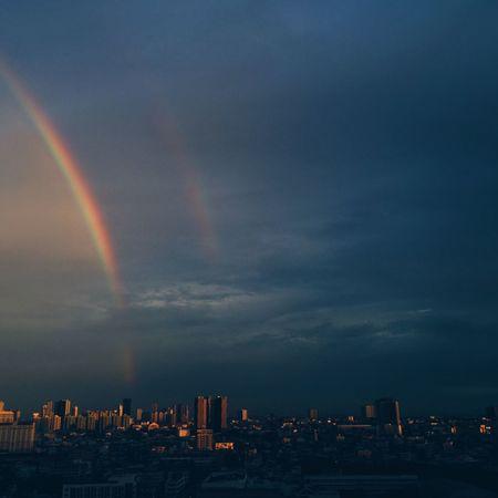 Rainbow Sky Evening