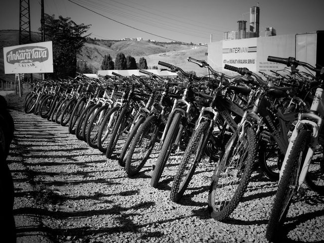 Bikes in a row. Blackandwhite Monochrome Fujifilm FujiX100T
