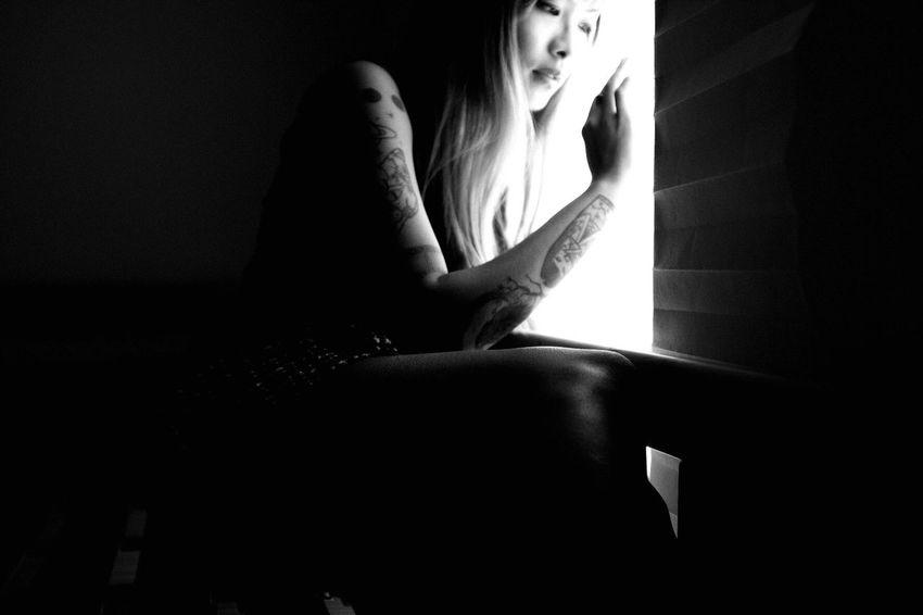 Self-portrait Shadow Highlights Tattooedgirls Tattoos Asiangirl Tattooedwomen Tattoo Inkedgirls Self Portrait Selfportrait