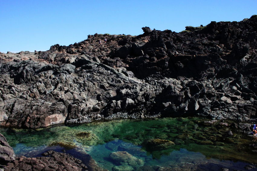Pantelleria Beauty In Nature Blue Clear Sky Day Geology Nature No People October 2015 Outdoors Physical Geography Rock Rock - Object Rock Formation Scenics Sea Water Sky Tranquil Scene Tranquility Water