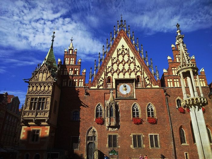 Architecture City Famous Place Gothic Gothic Architecture Historic Center Historical Building Historical Sights History Main Square Pillory Poland Ratusz Tower Travel Destinations Wroclaw Wroclaw, Poland