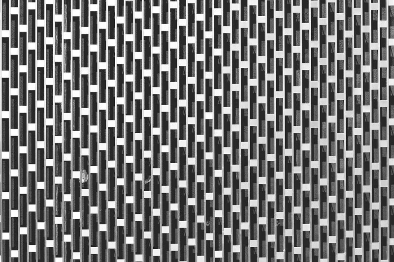 Backgrounds Full Frame Pattern Textured  Repetition No People White Color Close-up Built Structure Checked Pattern Indoors  Wall - Building Feature Design Architecture Textile Shape Square Shape Black Color Flooring Detail