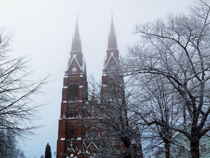 Church Winter Churches Trees Architecture Lithuania Open Edit Nature Landscape