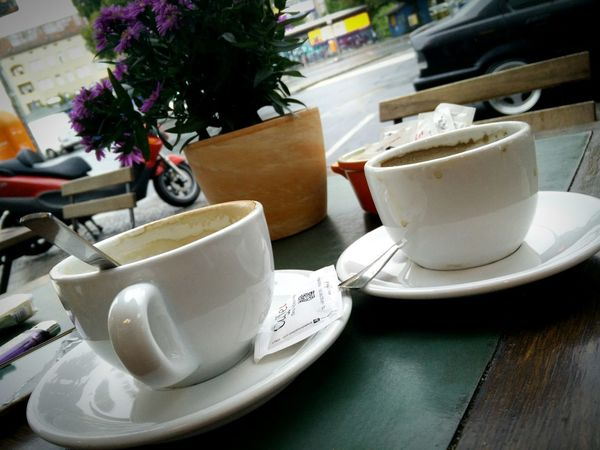 One more cup of coffee for the road... One more cup of coffee before I go.... to Skiathos :)