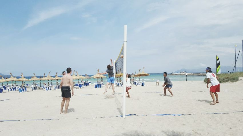 Game day Need For Speed Beach Volleyball At The Beach Doing Sport Men Doing Sports Sweating It Out Jumping Hitting Balls Summertime At The Sea People Of The Oceans Sand Horizontal Shot Full Frame EyeEm Best Shots Enjoying Life Hobby Sunshine Feeling The Heat Volleyball Game On Outdoors From My Point Of View Showcase June Feel The Journey