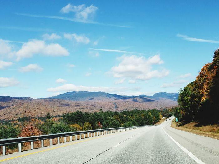 NH Tree Mountain Road Winding Road Road Trip Sky Landscape Mountain Range Cloud - Sky
