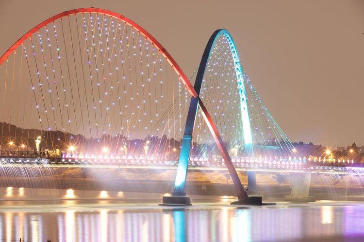 Bridge City City At Night City Night Cityscape Night Water