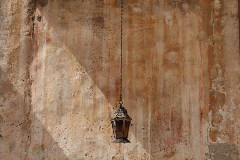 Close-up of hanging light