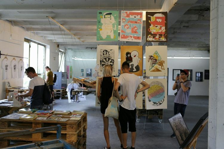 Druck Berlin Festival focused on silk screen printing. In addition to the action area, many works have been exhibited. Druck berlin festival Art, Drawing, Creativity Exhibition ArtWork Silkscreen Prints Festival Druck Berlin Festival Berlin Friedrichshain