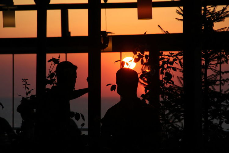 Architecture Built Structure Day Indoors  Men Nature One Person People Real People Silhouette Sky Sunset