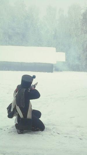 Shooting Napoleon Wars Soldier