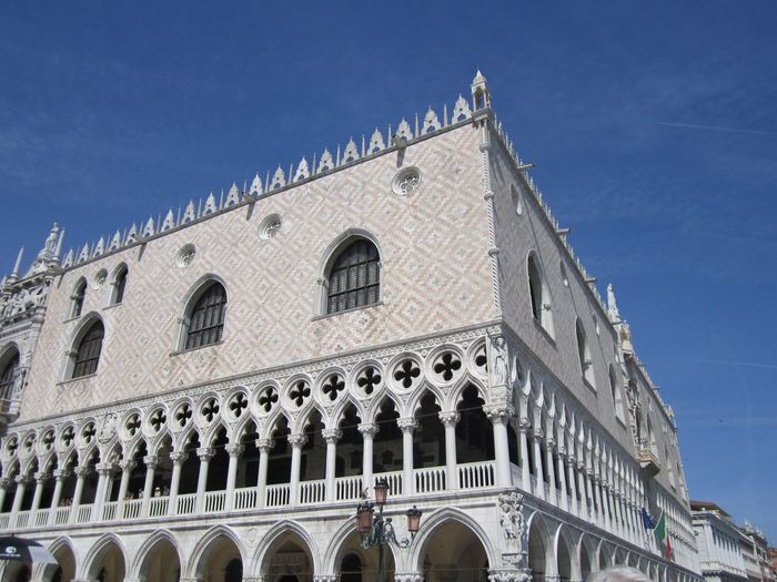 Low angle view of doges palace against sky