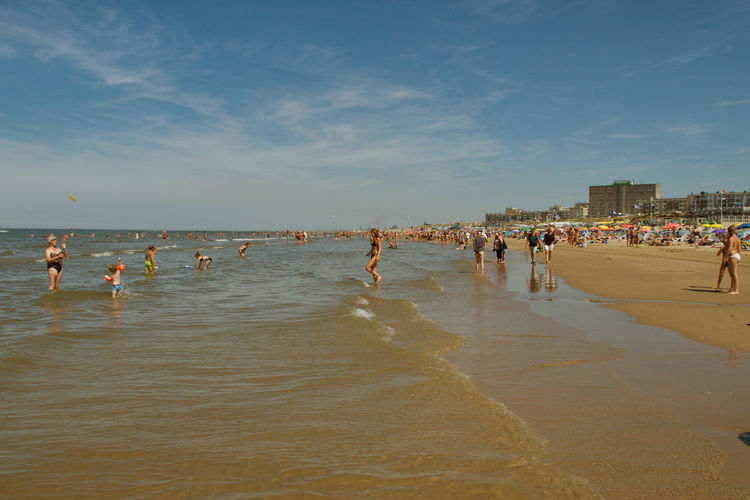Zandvoort Aan Zee Beach Group Of People Leisure Activity Nature Outdoors Sand Zandvoort Beach #urbanana: The Urban Playground Summer In The City