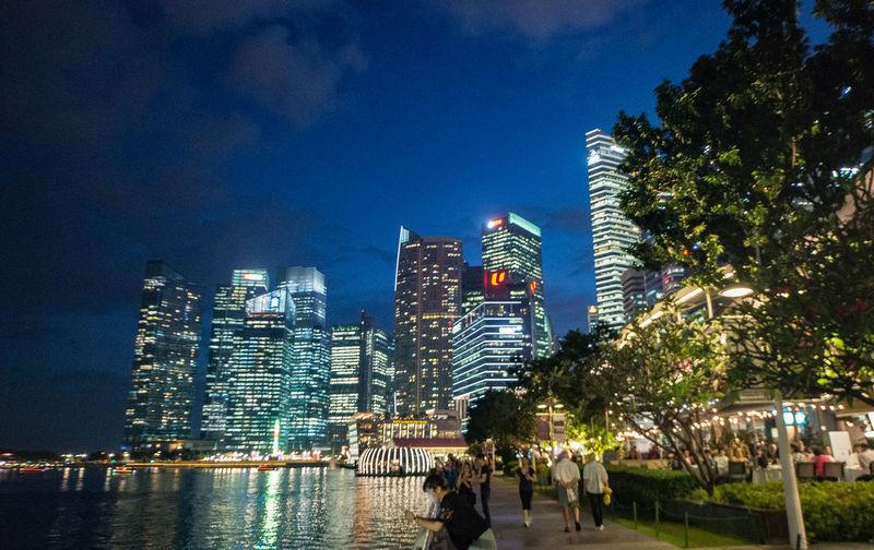 Singapore Night View Night View Of City Singapore City シンガポール夜景 夜景