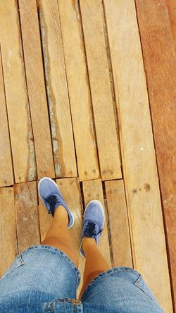 Stepbystep Wooden Floor Walking Alone... Human Body Part Taking Photos Street Photography