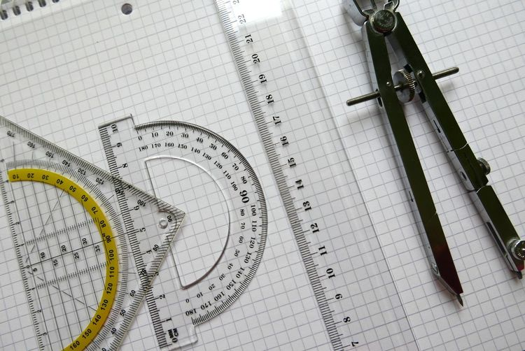 Compasses Protractor Mesure Geometry School Precision