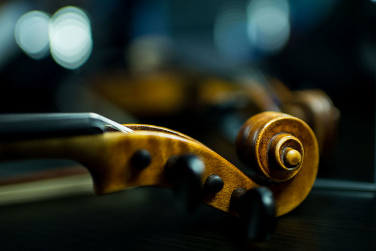 Close-Up Of Violin Scroll