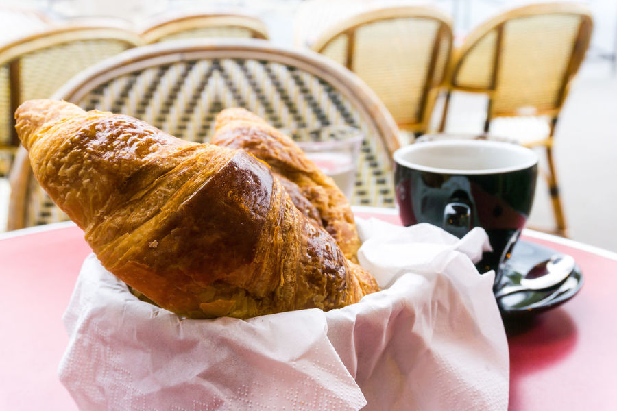 Breakfast Close-up Coffee - Drink Coffee Cup Croissant Cultures Day Drink Food Food And Drink Freshness Human Hand Indoors  People Ready-to-eat Unhealthy Eating