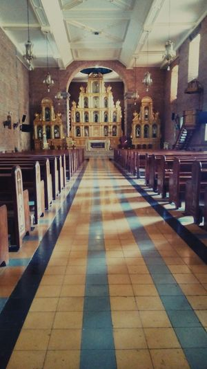 Someday I will walk on this aisle with my beautiful white dress. St John The Baptist Church Philippines ❤️ No People Laguna Liliw
