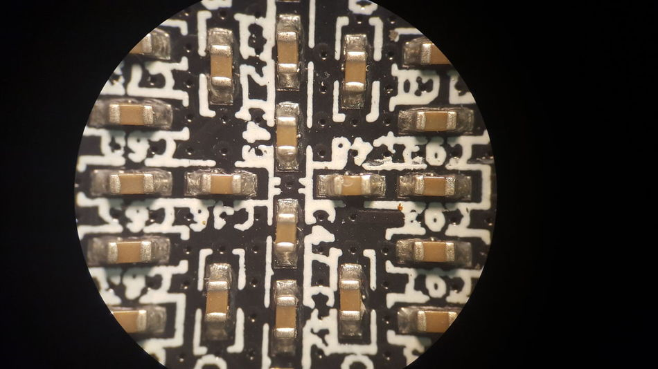 Electronics  Microscope Microscopeview Engineering Study Micro Smd Building DIY Doityourself Platine Current Voltage Resistance  Capacitor