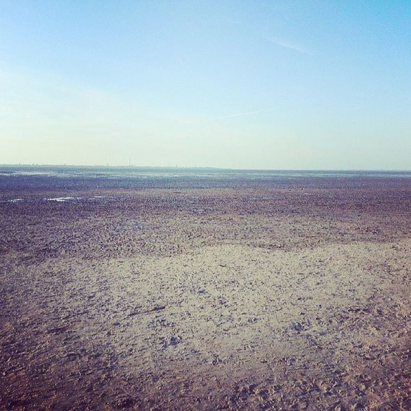 Wattenmeer mit Blick auf Wilhelmshaven . Dangast Jadebusen WHV