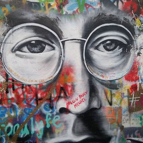 John Lennon and his soul gazing eyes... Prague