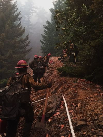 Taking a breather after 14 hours of mop up! Wildlandfirefighter Fire Wildlife & Nature Outdoor Photography