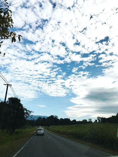 Cloudy wave Transportation Tree The Way Forward Mode Of Transport Car Road Sky Cloud - Sky Nature Land Vehicle Scenics No People Day Beauty In Nature Outdoors Khaoyai Thailand Amazingthailand