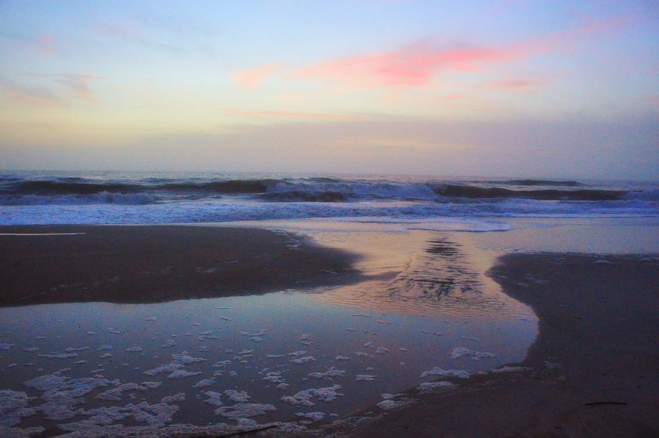 Go with the flow ... Remembering Christmas Eve 2015 Sunrise On The Beach Flow  Water_collection Atlantic Ocean Florida Beauty In Nature