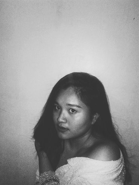 Manila, Philippines Faces Of EyeEm Blackandwhite Portrait Of A Woman Face Of A Woman Fortheloveofblackandwhite Monochrome Face Of A Woman Sideview Part
