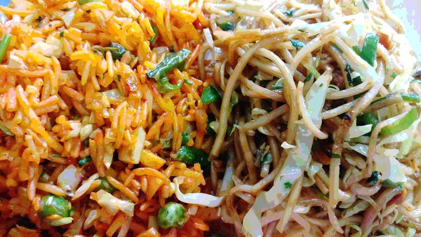 Close-up Full Frame Freshness Healthy Eating No People Food And Drink Food Backgrounds Indoors  Day Temptation Spicy Chinese Food Friedrice Flavors Of India Focus On Foreground Incredible India Indoors  Indian Foodie Indian Food Ready-to-eat