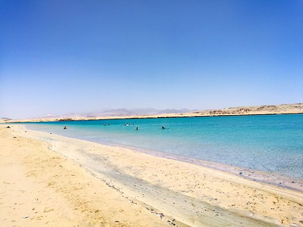 Sand Blue Water Vacations Sunny Clear Sky Summer Scenics Nature Travel Destinations Tranquil Scene Beauty In Nature Day RedSea Ras Mohamed Egypt Magic Lake
