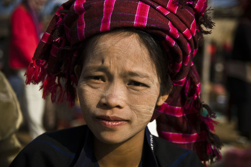 Check This Out Portrait Of A Woman Adult Adults Only Burma Close-up Day Focus On Foreground Front View Headshot Human Face Looking At Camera Mid Adult Myanmar One Person Outdoors People Portrait Real People Smile Travel Destinations Warm Clothing Young Adult