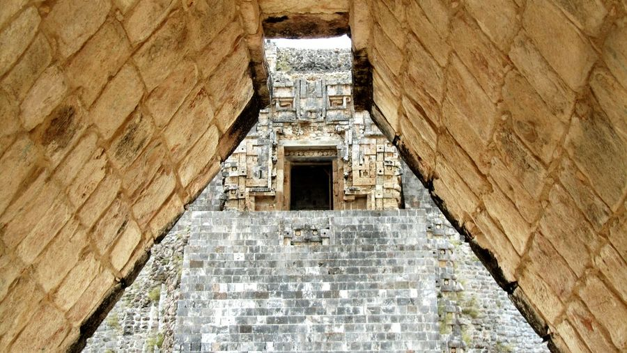 Low Angle View Of Ancient Historical Structure