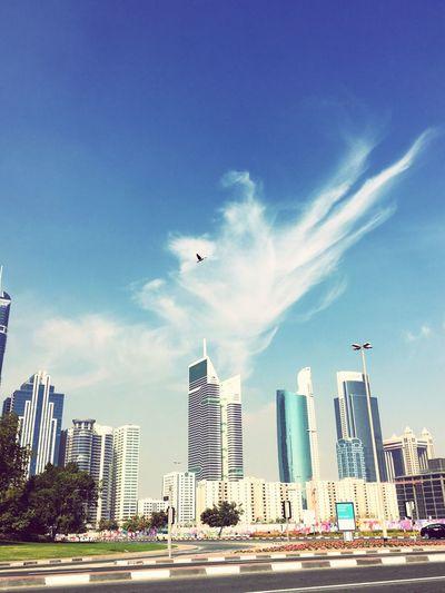 Infrastructure Dubai Clouds And Sky Birds