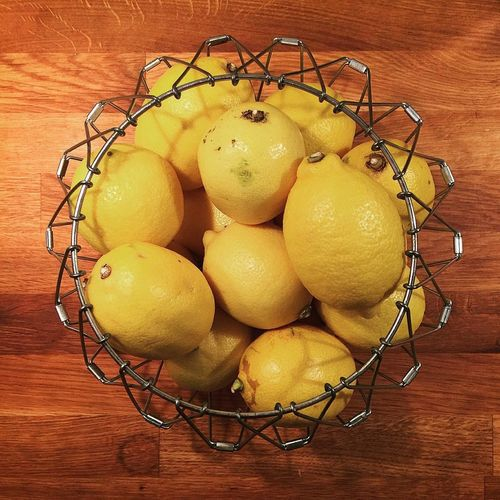 Basket Citrus Fruit Close-up Food Freshness Healthy Eating Lemon Lemons MoMath No People Organic Still Life Wood - Material Wooden
